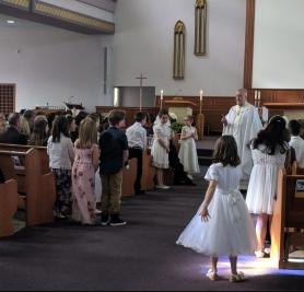 First Communion at Visitation