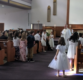 First Communion at Visitation